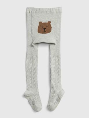 Gap Toddler Bear Cable Knit Tights