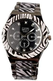 Eton Women's Quartz Watch with Black Dial Analogue Display and Black Resin Bracelet 2991J-ZB