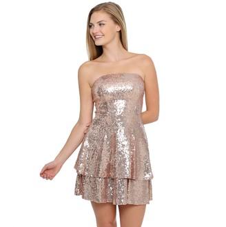 Juniors B. Smart Strapless Short Dress With Double Layered Skirt