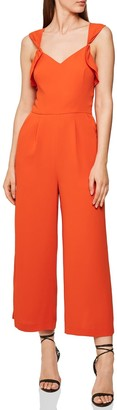Reiss Amika Peekaboo Detail Sleeveless Jumpsuit