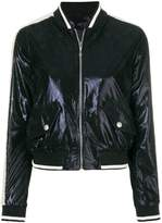 Just Cavalli metallic bomber jacket
