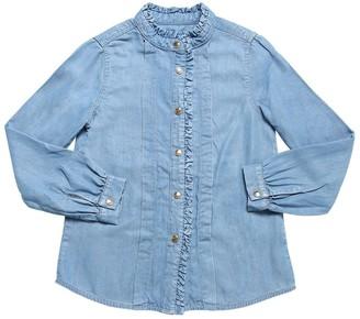 Chloé Chambray Shirt W/ Ruffles