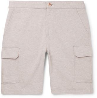 Brunello Cucinelli Melange Cotton-Blend Jersey Cargo Shorts