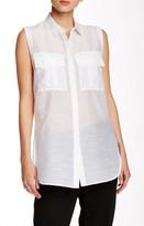 Helmut Lang Sleeveless Cotton & Silk Shirt
