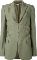 Stella McCartney corset waist blazer - women - Cotton/Linen/Flax/Polyester/Viscose - 42