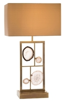 John-Richard Collection Agate Panel Table Lamp