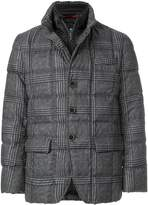 Fay plaid print quilted jacket
