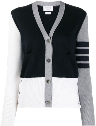 Thom Browne Fun Mix 4-Bar cardigan