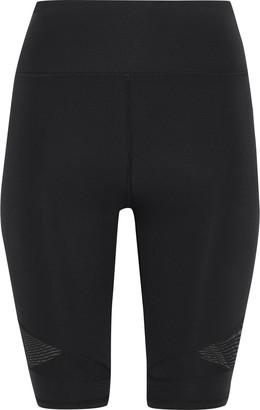 Iris & Ink Mesh-paneled Stretch Shorts