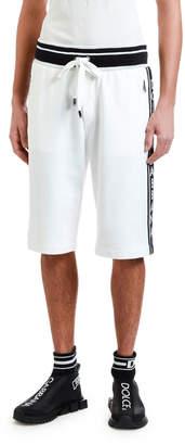 Dolce & Gabbana Men's Sweat Shorts with Logo Taping