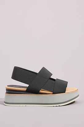 Paloma Barceló Platform Slingback Sandals By in Black Size 38