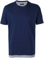 Z Zegna contrast trim T-shirt - men - Cotton - S