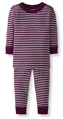 Moon and Back 2 Piece Long Sleeve Pajama Set Berry, 3T