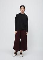 Issey Miyake black drape jersey top