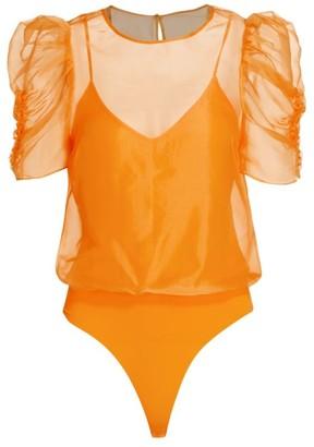 CAMI NYC Louisa Organza Silk Bodysuit