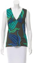 Versace Printed Sleeveless Top