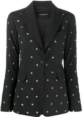 Frankie Morello Single-Breasted Stud-Embellished Blazer