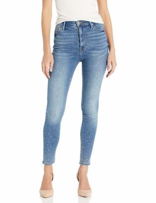 True Religion Women's CAIA High Rise Skinny Leg fit Jean Hem