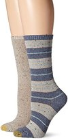 Gold Toe Women's Donegal Stripe Boot Crew 2 Pack