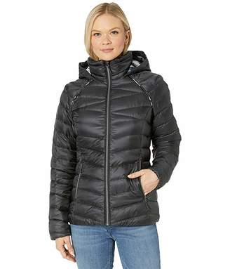 Spyder Timeless Hoodie Down Jacket (Black) Women's Coat
