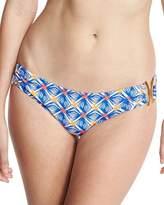 Milly Elba Mosaic-Print Bandeau Bikini Swim Bottom, Multicolor