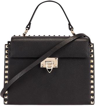 Valentino Rockstud Top Handle Bag in Nero   FWRD
