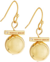 Rebecca Minkoff 12k Gold-Plated Small Bead Drop Earrings