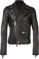 Les Hommes double zip biker jacket