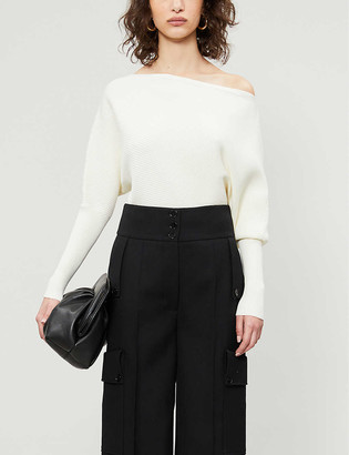 Reiss Lorna ribbed stretch-knit jumper