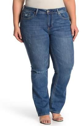 Seven7 Rocker Mid Rise Slim Bootcut Jeans (Plus Size)