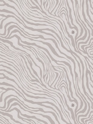 Roberto Cavalli Leather Effect Zebra Print Wallpaper