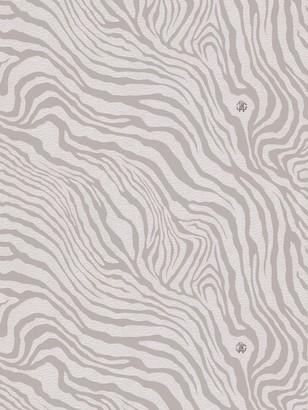 Roberto Cavalli Leather Effect Zebra Print Wallpaper