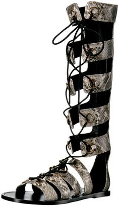 Nine West Women's Tirion Snake Gladiator Sandal