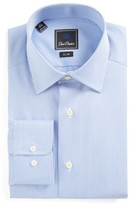 David Donahue Men's Slim Fit Check Dress Shirt