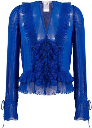 Marco De Vincenzo Sheer Pleated Shirt