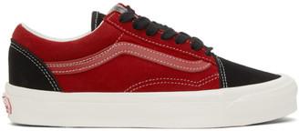 Vans Red and Black OG Old Skool LX Sneakers