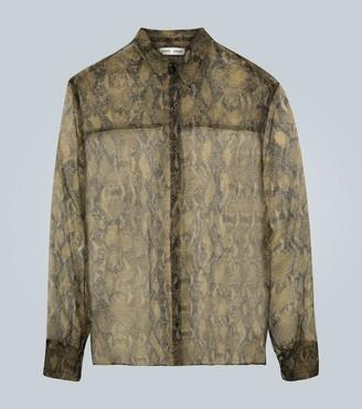 Cmmn Swdn Bas snake organza oversized shirt