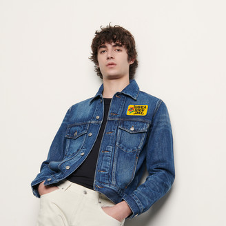 Sandro Denim jacket embroidered with patch