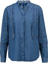 MiH Jeans Ile scalloped cotton-chambray shirt