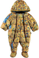 Molo Hebe Water-Repellant Peacock Feather Print Puffer Snowsuit, Size 3-12 Months