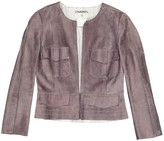 Chanel Grey Suede Jacket for Women