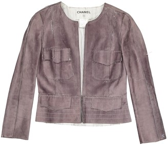 Chanel Grey Suede Jackets