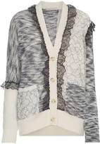 Christopher Kane patchwork lace trim cardigan