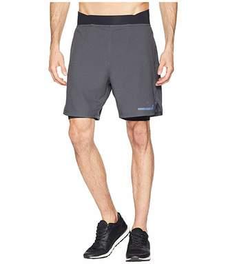 2XU Run 2-in-1 Compression 7 Shorts (Charcoal/Nero) Men's Workout