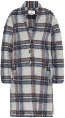 Etoile Isabel Marant Isabel Marant, étoile Gabriel checked wool-blend coat