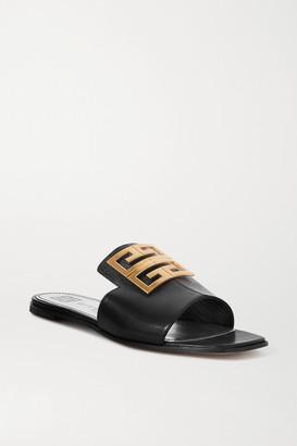 Givenchy 4g Logo-embellished Leather Sandals - Black