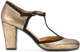 Chie Mihara metallic T-bar pumps - women - Leather/rubber - 36