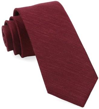 Tie Bar Jet Set Solid Burgundy Tie