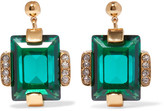 Marni Gold-tone Crystal Earrings - one size
