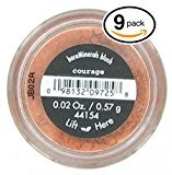 Bare Escentuals (PACK OF 9) Bare Minerals COURAGE Blush (41554) Makeup. Ultra-light & perfectly blends onto skin! PURE BLEND OF 100% NATURAL MINERALS! (Pack of 9 Compacts, .02oz Each)
